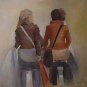 Vrouwen op de fiets