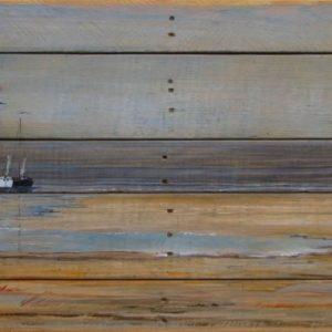 3 skutsjes op hout